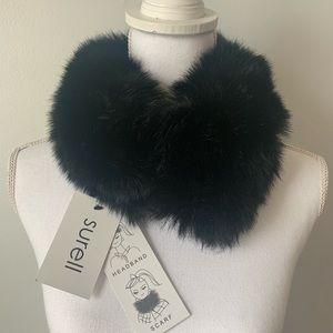 Faux fur headband/scarf NWT